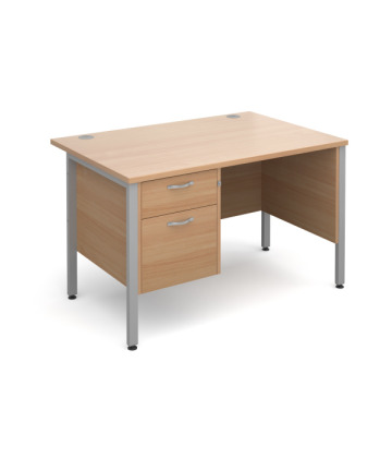 Maestro 25 H Frame Straight Desk with Pedestal